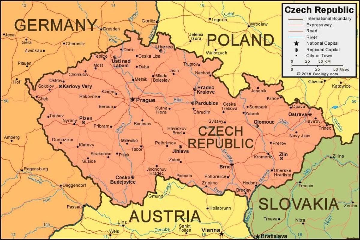 mapa evrope sa gradovima Češke mapa sa gradovima   Mapa češke sa gradovima (Istočne Evrope  mapa evrope sa gradovima